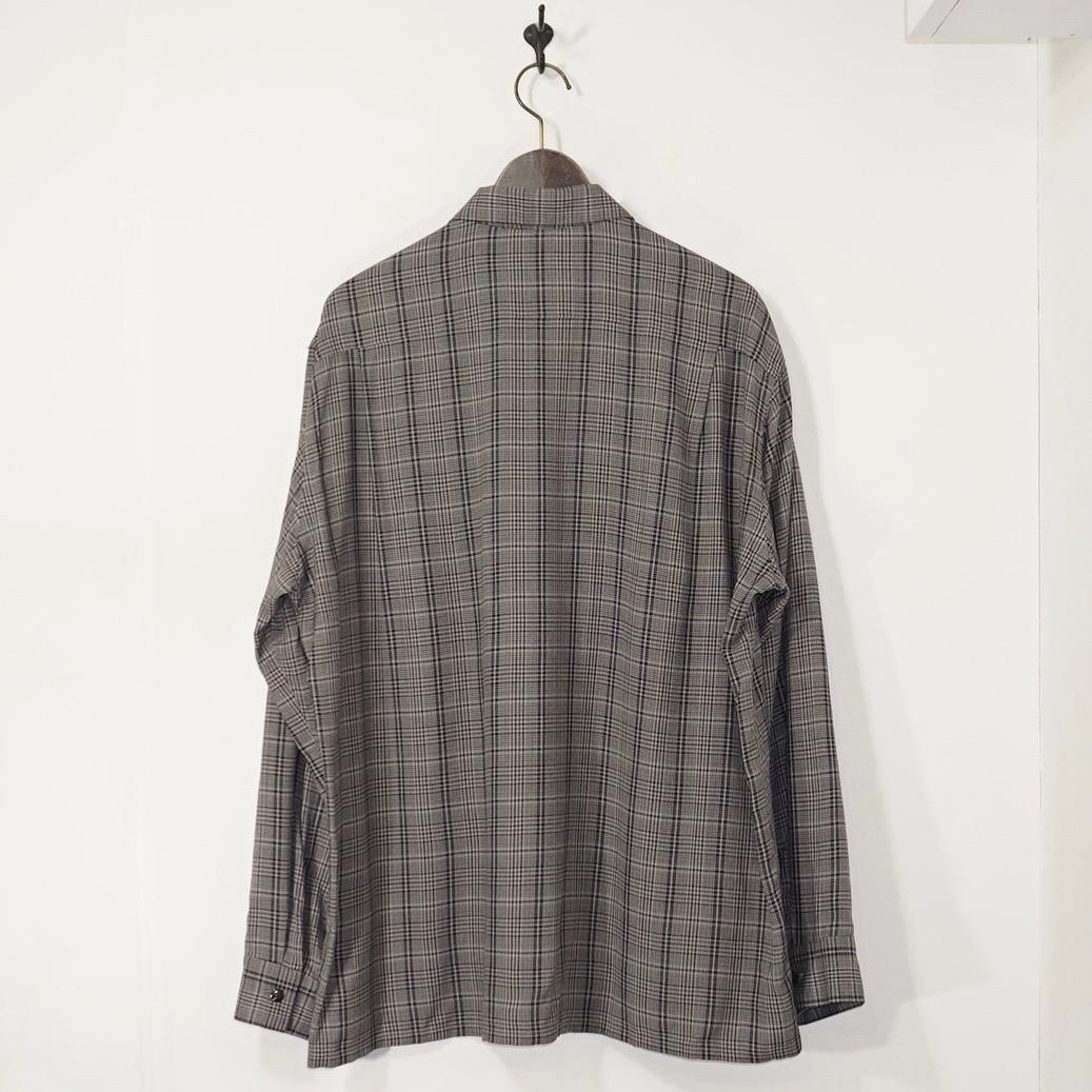 URU(ウル) | 20SRP01 / RAYON POPLIN OPEN COLLAR L/S SHIRTS (レーヨンポプリンオープンカラーロングスリーブシャツ) - BROWN