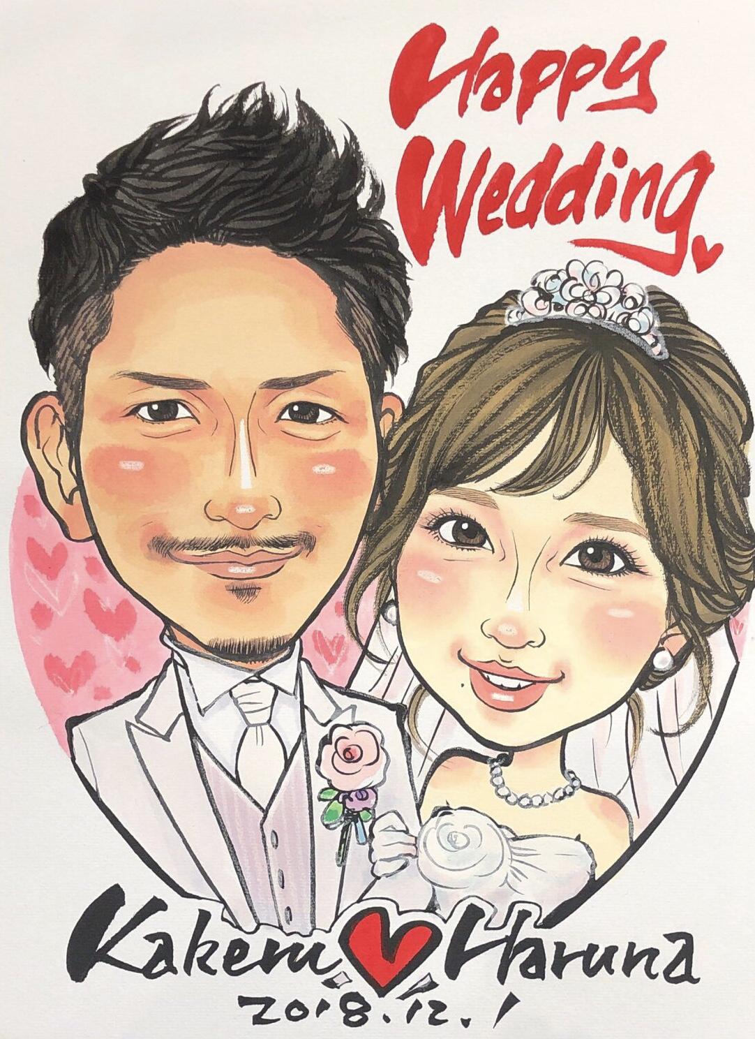 Wedding 色紙サイズ(242x272) 2名様