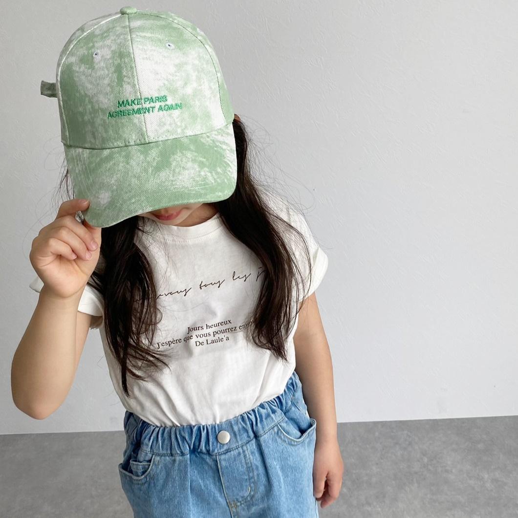 大きいサイズあり キッズ レタリング プリント Tシャツ 3462