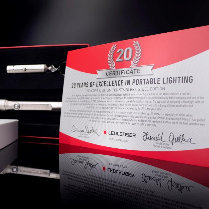 Ledlenser P5R Core & V8 Limited Stainless Steel Edition