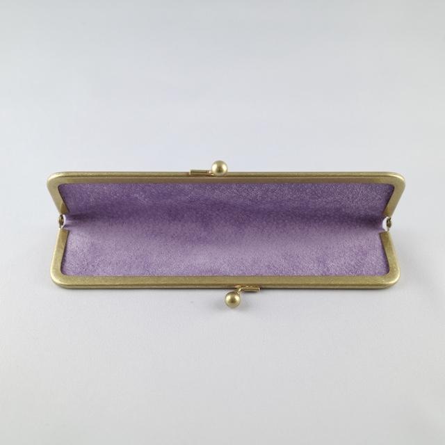 Lichtope別注 編吟革盤舎<br>1本挿しペンケース  紫