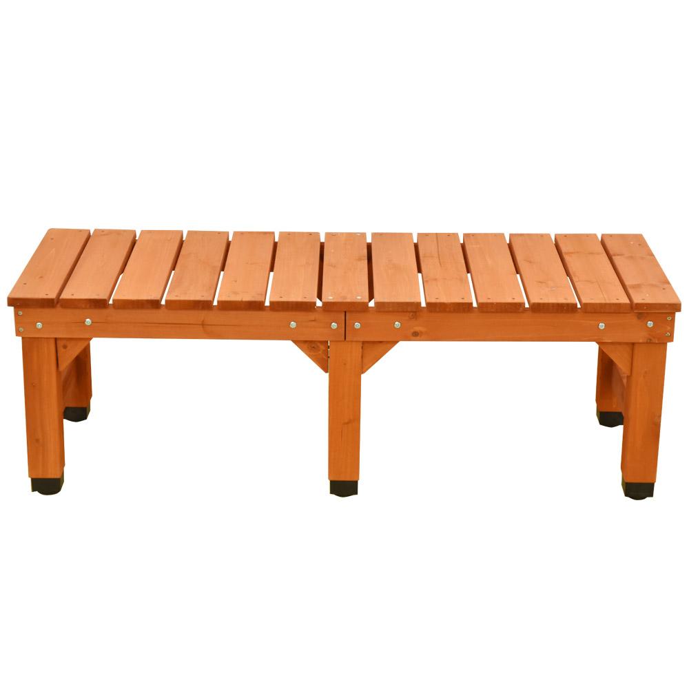 縁台 120cm 木製 ベンチ デッキ縁台 屋外 ベランダ 庭 ガーデンベンチ ガーデニング 高さ調節 イス