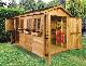 木製小屋 シダーシェッド社 ボートハウス (8×12type) 約8.6平米 2.6坪 木製物置 ※要荷降ろし手伝い