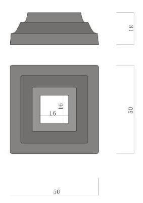 ロートアイアン子柱用座金(JHIZ-02)取付簡単!ウッドデッキフェンスに!