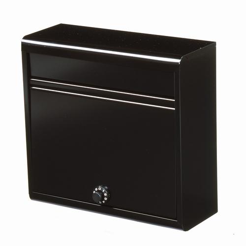 郵便ポスト 家庭用郵便ポスト(ダイヤル錠付・マットブラック) FH-614D(MBK) メールボックス ダイヤル錠式