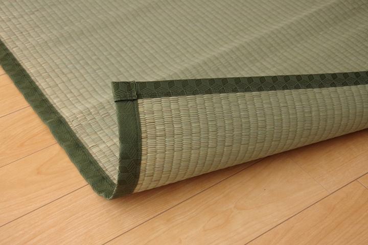 上敷き 2畳 草津 江戸間2畳 (176×176cm) い草 ラグ 国産 (1100632)