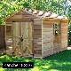 木製小屋 シダーシェッド社 ランチャー (8×16type) 約11平米 3.3坪 ※要荷降ろし手伝い
