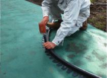 防草シート見切り(2m巻×3枚入セット) 芝見切り