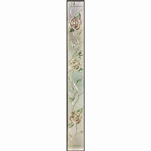 ステンドグラス (SH-J03) 1625×177×20mm デザイン ローズ 薔薇 ピュアグラス Jサイズ (約10kg) ※代引不可