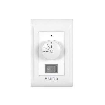 シーリングファン [オプション] VENTO 壁付コントローラ 3速ダイヤルスイッチ(ファン・照明用) [VC-WA31L]