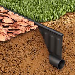 芝見切り Vタイプ プラエッジ (2000mm×3枚入セット) ブラック Vタイププラス 植栽帯