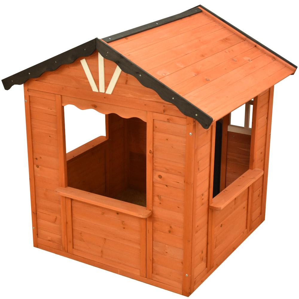 プレイハウス 木製 ブラウン シエルト キッズハウス 屋外 子供 大型遊具 秘密基地 庭 子供のお家