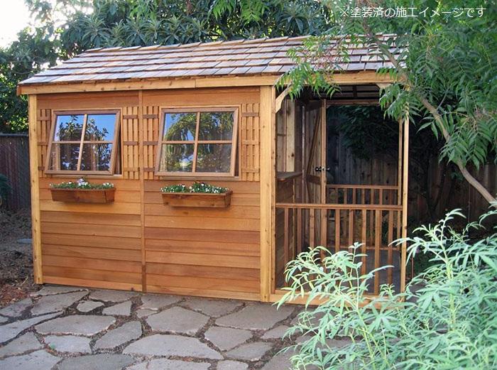 木製小屋 シダーシェッド社 クラブハウス (8×16type) 約8.3平米 2.5坪 ※要荷降ろし手伝い