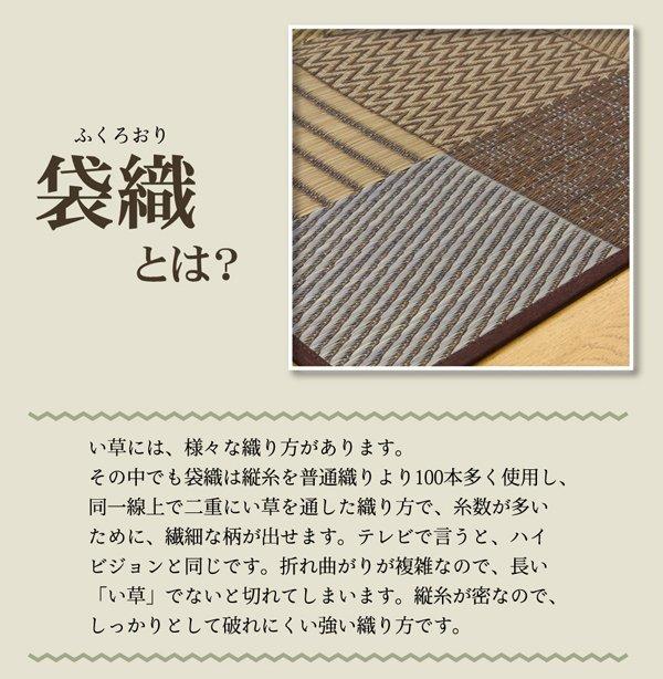 上敷き 1畳 DX京刺子 江戸間1畳 (87×174cm) い草 ラグ 国産 裏貼り