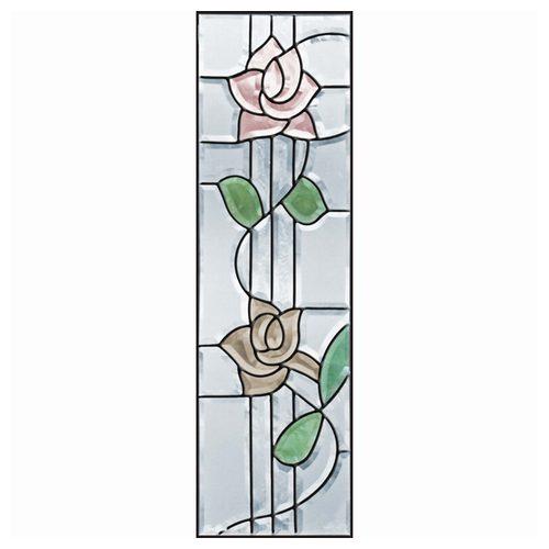 ステンドグラス (SH-C12) 927×289×18mm ローズ 薔薇 ピュアグラス Cサイズ (約8kg) メーカー在庫限り ※代引不可