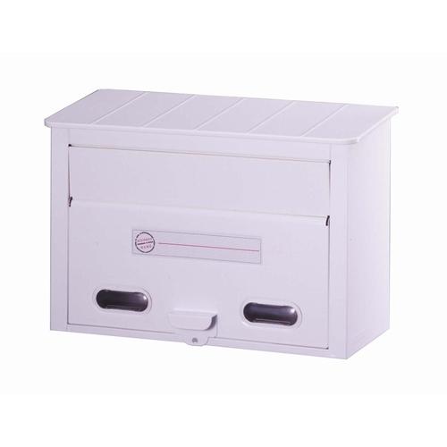 郵便ポスト カラーポスト ホワイト FH-30W メールボックス 鍵なし