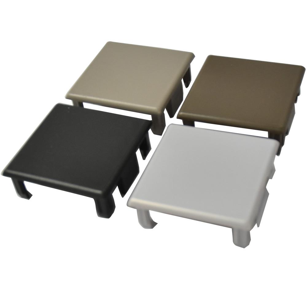 アルミ支柱75角 75×75樹脂キャップ(片側)【取付あり】