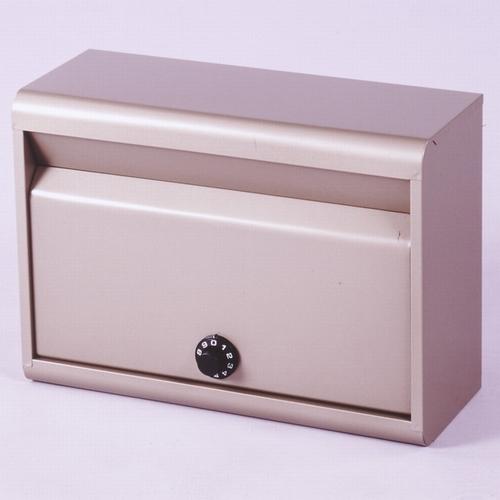 郵便ポスト カラーポスト ダイヤル錠タイプ チタングレー FH-50D(TGY) メールボックス