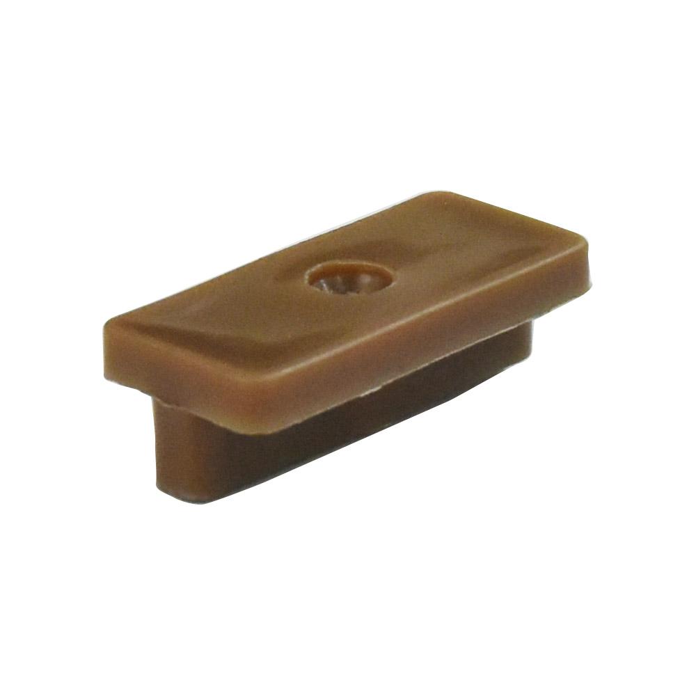※人工木 床材固定クリップ 12×18×39mm(50個入)/ブラウン【プラチナデッキ/オーロラデッキ共通】