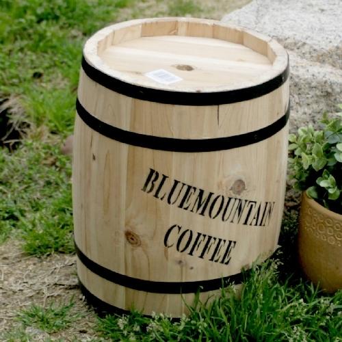 プランターカバー 鉢カバー 木製 樽型 コーヒーバレル(小) CB-2330N ※北海道+1100円