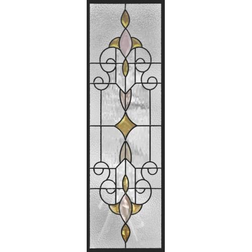 ステンドグラス (SH-C25) 一部鏡面ガラス 927×289×18mm デザイン アンティーク ピュアグラス Cサイズ (約8kg) ※代引不可