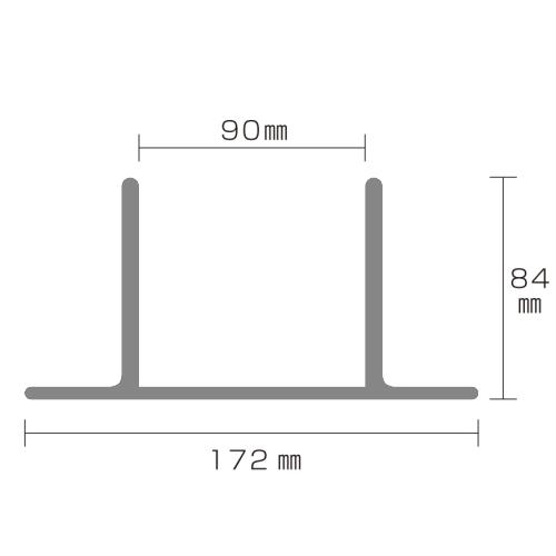 90角支柱用 アルミ製 固定金物セット [1個セット] つむ木90  (TS-90) (約 0.5kg) つむぎ ダークブラウン