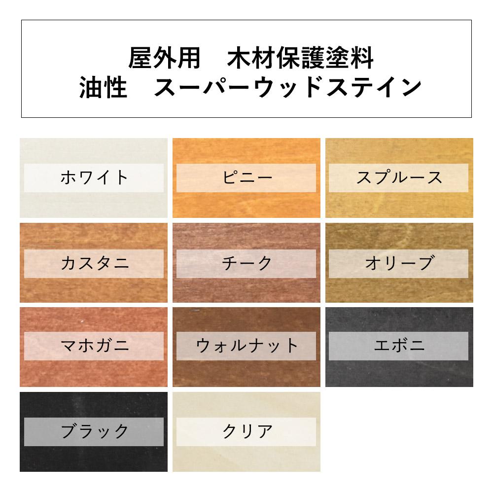 屋外木部保護塗料 スーパーウッドステイン(ブラック) 16L ※法人限定 ※北海道・九州+600円