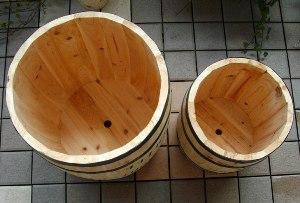 プランターカバー 鉢カバー 木製 樽型 コーヒーバレル(大) CB-3040N ※北海道+1100円