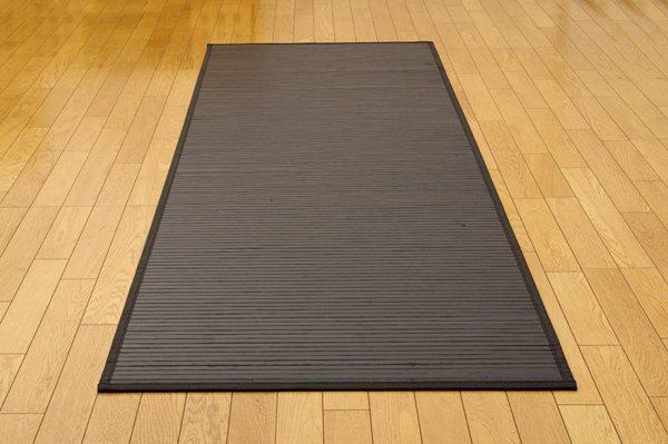廊下敷 竹ラグ 80×340cm ユニバース ブラック (5315060) 竹マット