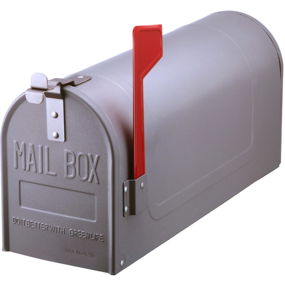 郵便ポスト スチールアメリカンポスト US-480S シルバー ※ポール別売 メールボックス 鍵なし