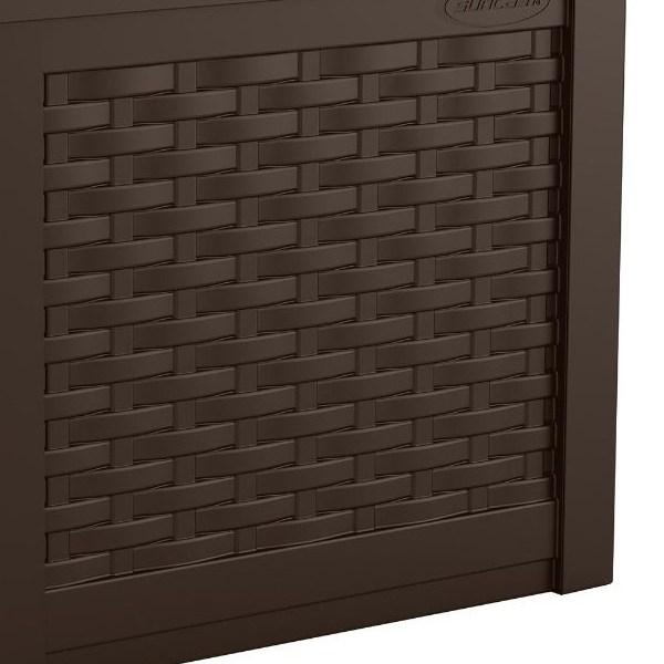 ガーデンチェア 収納付き 22ガロンチェアーボックス(ラタン調) TOSHO SUNCAST SSW600J ※北海道+500円