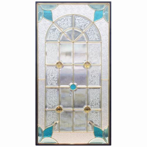ステンドグラス (SH-A05N) 一部鏡面ガラス 913×480×18mm ピュアグラス Aサイズ (約13kg) メーカー在庫限り ※代引不可