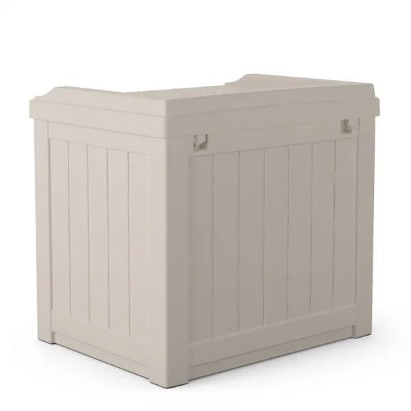 ガーデンチェア 収納付き 22ガロンチェアーボックス カラー:ライトトープ TOSHO SUNCAST SS601 ※北海道+500円
