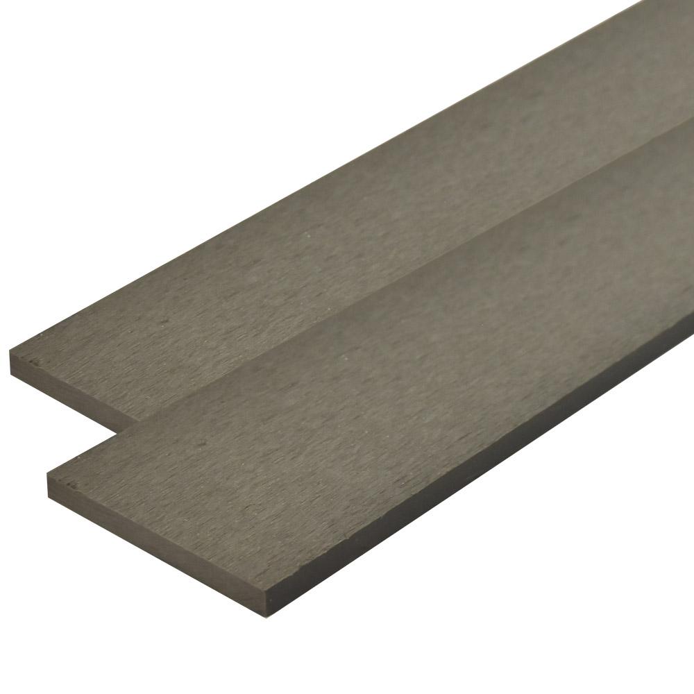 ※人工木 オーロラデッキ・フェンス材 10×96×2000mm(1.9kg) 無垢/グレー