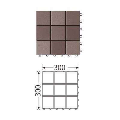TOTO ベランダタイル バーセア MT03 セサミブラウン [10枚セット] 300角 ジョイントタイル バルコニー 屋外用 AP10MT03UFJ