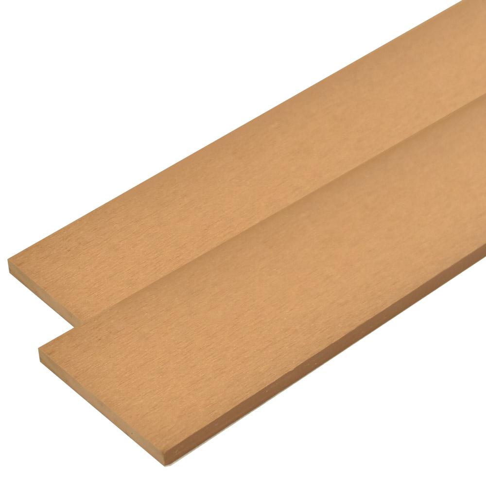 ※人工木 オーロラデッキ・フェンス材 10×96×2000mm(1.9kg) 無垢/チーク