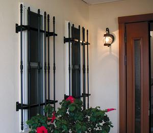 窓格子 アルミ鋳物 高さ1100mm 取付ピッチ460mm (MGF117604)