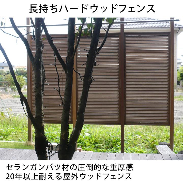 [3枚セット]長持ちハードウッド 目隠しルーバーフェンス 900×1800mm (約63kg)