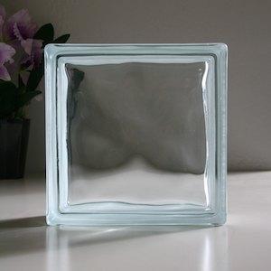 ガラスブロック 190×190×80mm クリアクラウディ 単品 aks-46621