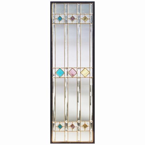 ステンドグラス (SH-C04N) 927×289×18mm デザイン 格子 ピュアグラス Cサイズ (約8kg) ※代引不可
