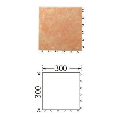TOTO ベランダタイル バーセア MB02 ラテラオレンジ [10枚セット] 300角 ジョイントタイル バルコニー 屋外用 AP30MB02UFJ