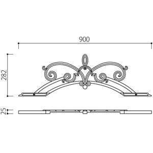 アルミ鋳物 妻飾り(オーナメント)・壁飾り (IT9317)