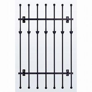 窓格子 アルミ鋳物 高さ1100mm 取付ピッチ1120mm (MGF117511)