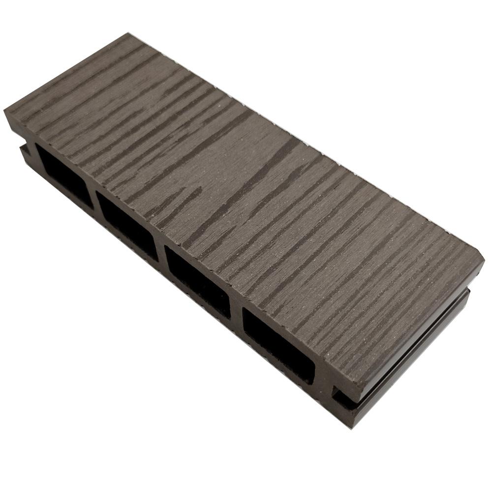 オーロラデッキ床材(DARK BROWN)・デッキサンプル  25×140×50 【お一人様一点限り】