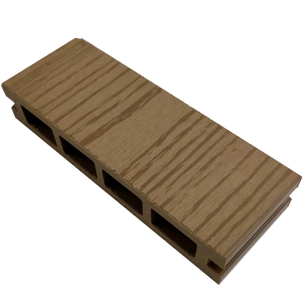 オーロラデッキ床材(TEAK)・デッキサンプル     25×140×50 【お一人様一点限り】