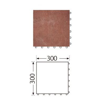 TOTO ベランダタイル バーセア MU03/300 ベイクアンバー [10枚セット] 300角 ジョイントタイル バルコニー 屋外用 AP30MU03UFJ