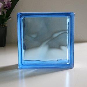 ガラスブロック 190×190×80mm カラー:ブルークラウディ 6個セット