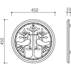 アルミ鋳物 妻飾り(オーナメント)・壁飾り (IT4505)