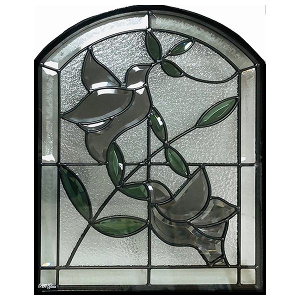 ステンドグラス 500×400×18mm (SH-K07) 一部鏡面ガラス ピュアグラス Kサイズ (約6kg) メーカー在庫限り ※代引不可