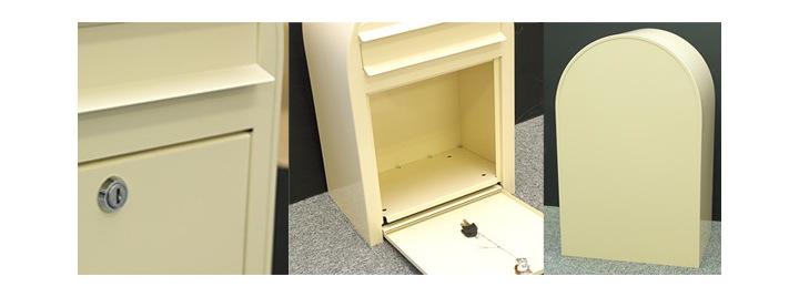 ポスト ボビ ブラック (AAH03A) 北欧 デザイン 前入れ・前出し 壁付け 壁掛け 鍵付き